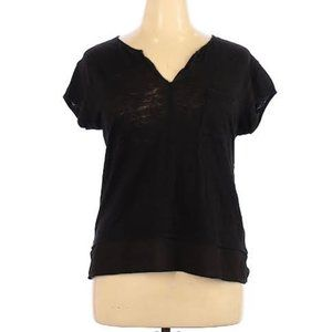 Sanctuary Short Sleeve black basic tee v-neck top